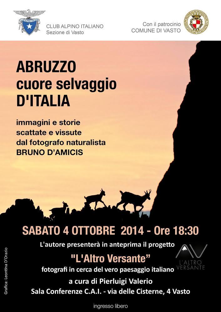 Abruzzo Cuore Selvaggio d'Italia;  sabato 4 ottobre 2014, ore 18:30