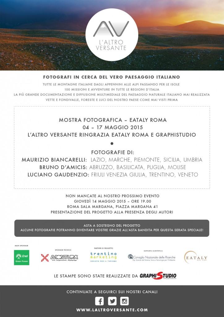 L'Altro Versante, fotografi in cerca del vero paesaggio Italiano. Mostra fotografica. Eataly Roma, dal 4 al 17 maggio 2015